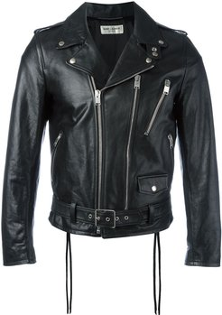 signature motorcycle jacket - Black