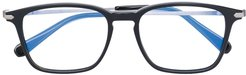 square-frame glasses - Black