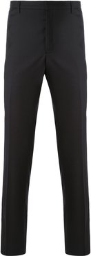 straight leg tailored trousers - Black