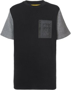 quilted back T-shirt - Black