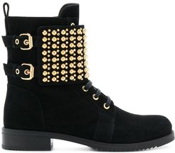 studded ankle boots - Black