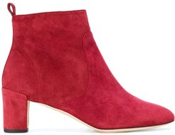 mid-heel ankle boots - Red