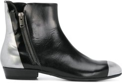 side zip ankle boots - Black