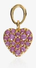 18K rose gold and pink Heart sapphire pendant