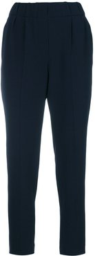 tapered cropped trousers - Blue