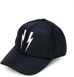 lightning bolt cap - Black