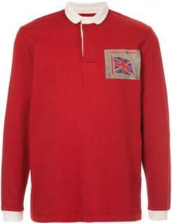 longsleeved polo shirt - Red