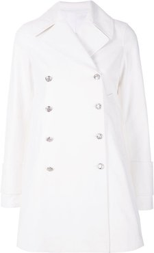 double breasted coat - White