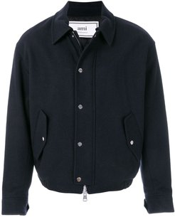 Quilted Zipped Jacket - Blue
