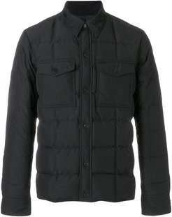 Snap-Buttonned Quilted Jacket - Black