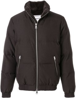 Lined Down Jacket - Brown