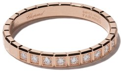 18kt rose gold Ice Cube diamond ring - FAIRMINED ROSE GOLD