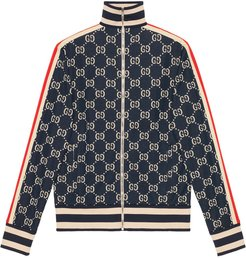 GG jacquard cotton jacket - Blue