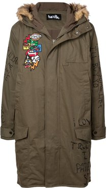 NYC Drama parka coat - Green