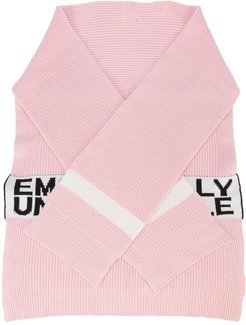 Emotionally unavailable knit scarf - PINK