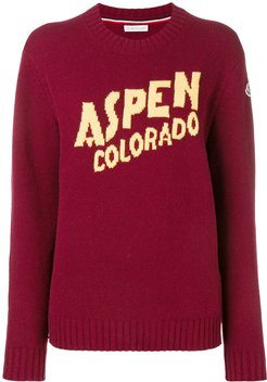 Aspen cashmere and wool sweater - Red