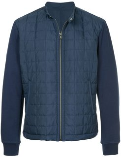 front zip padded jacket - Blue