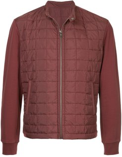 zip-up padded jacket - Red