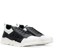 colour blocked sneakers - Black