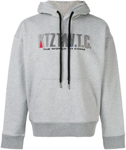 Mountain embroidered hoodie - Grey