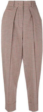 checked trousers - Red