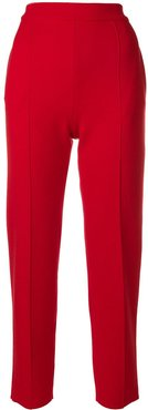 classic slim fit trousers - Red