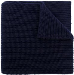 ribbed knit scarf - Blue
