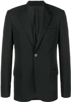 Two Buttons Lined Jacket - Black