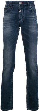 Alexia distressed skinny jeans - Blue