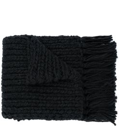 oversized scarf - Black