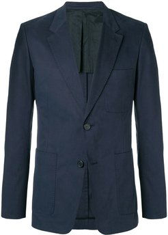 Half-Lined Two Buttons Jacket - Blue