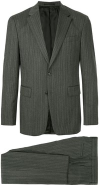 striped two-piece suit - Grey