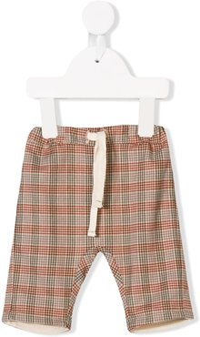 landscape check trousers - Brown