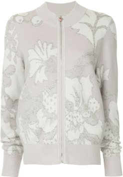 embroidered knit jacket - PINK