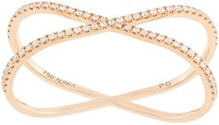 18kt rose gold KATIA DUO diamond two-finger ring