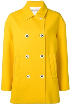 Yellow Double-Breasted Pea Coat