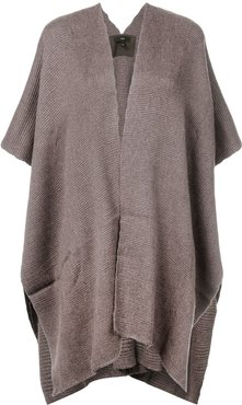 hand-woven Poncho - Brown