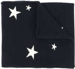 stars knitted scarf - Blue
