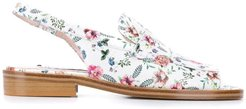 floral print sandals - White