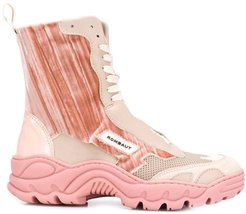 contrast panel boots - PINK