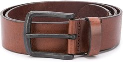 treated leather belt - Brown