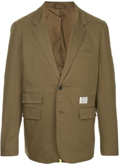 lined tailored jacket - Green