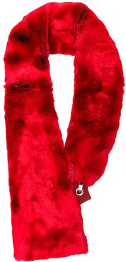 faux fur scarf - Red