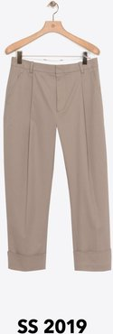 Pleated Trouser With Wide Cuffs