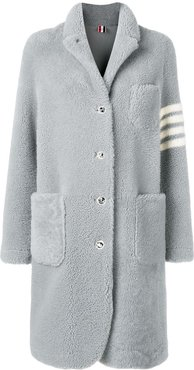 4-Bar stripe overcoat - Grey