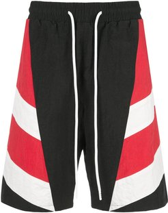 striped track shirts - Red