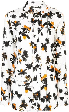 Floating Floral printed blouse - White