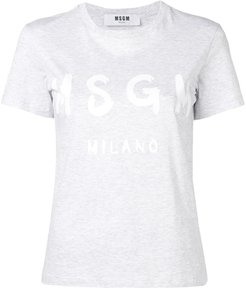 logo print T-shirt - Grey