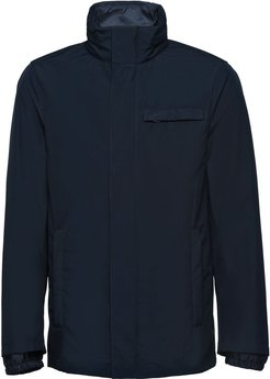 technical poplin jacket with removable lining - Blue
