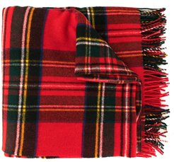 oversized plaid scarf - Red